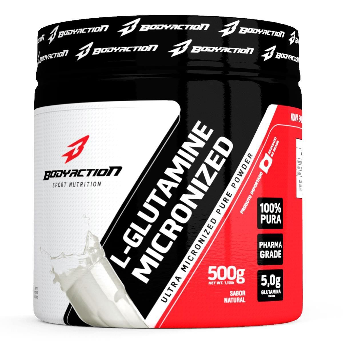 Glutamina L-Glutamine Bodyaction 500G