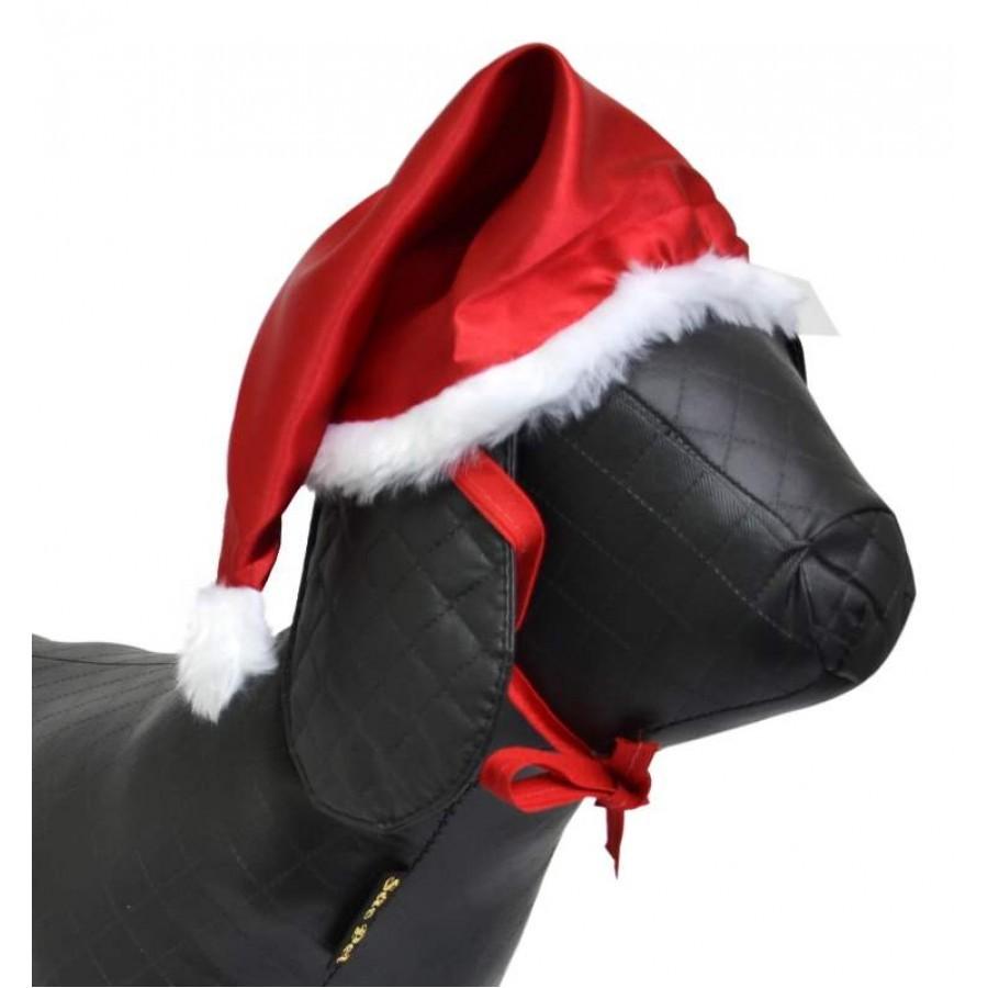 Gorro de Natal em Cetim para Cães e Gatos - PP - São Pet