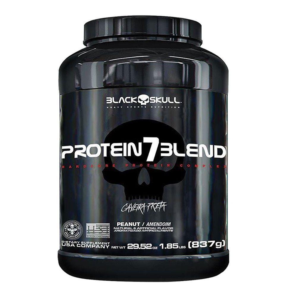 Hiper Proteíco Whey Protein 7 Blend Caveira Preta 837g Black Skull