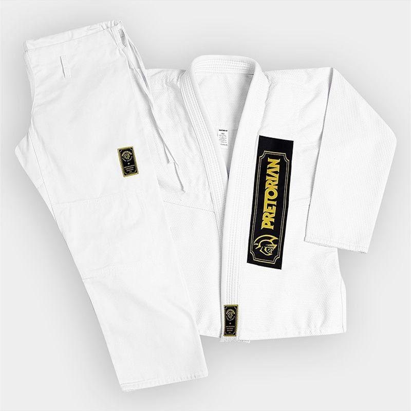 Kimono First Jiu Jitsu 100% Algodão Branco Pretorian