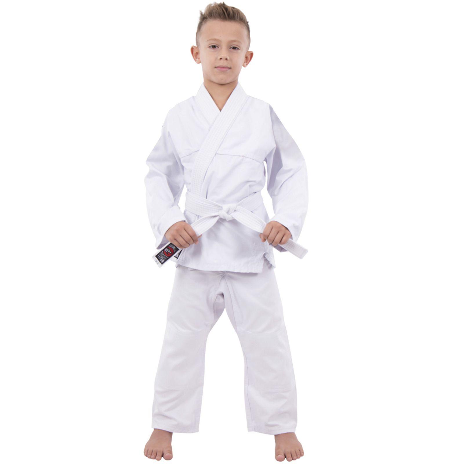 Kimono Infantil Jiu jitsu -  Judô Sarja Reforçada Branco Naja