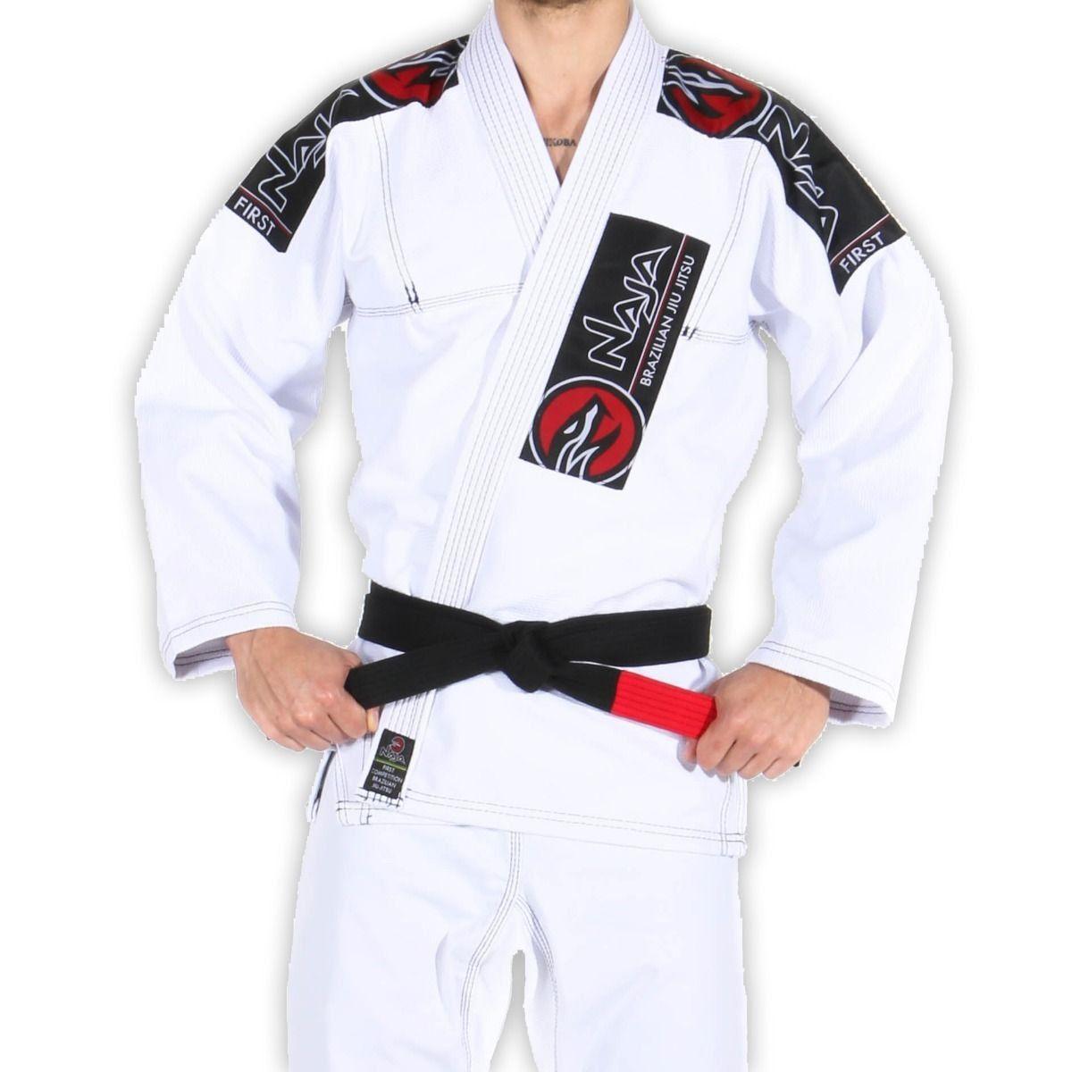 kimono jiu jitsu new first - naja - branco