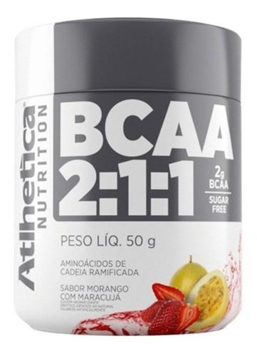 Kit BCAA 2:1:1 Morango com Maracujá - 3 Unidades 50g - Athletica Nutrition