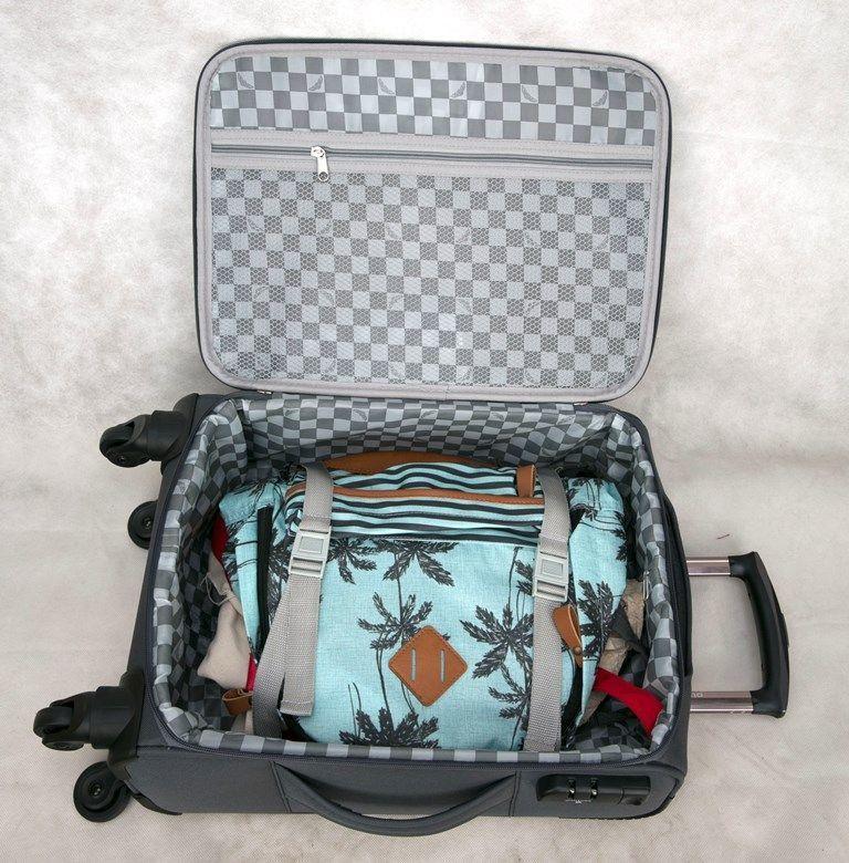 kit de malas austria jbm901 P, M, G ultraleve cinza santino