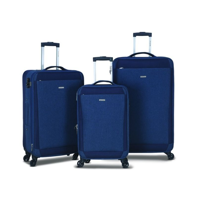 kit de malas Florença expansível azul marinho TLM901 rodas 360º Santino