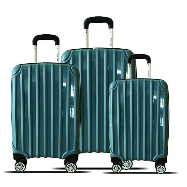 kit de malas miami tov181 P, M, G rodas 360º azul santino