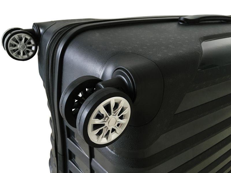 kit de malas miami tov181 P, M, G rodas 360º preta santino