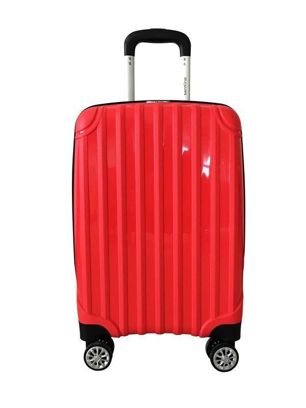 kit de malas miami tov181 P, M, G rodas 360º vermelho santino