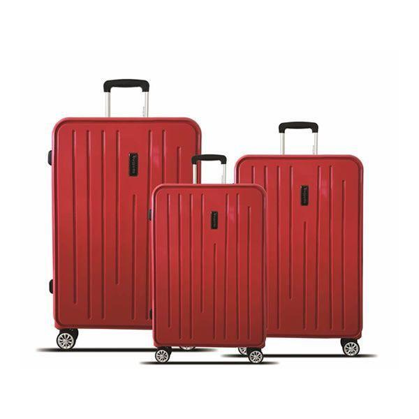 kit malas de viagem california tov182 P, M, e vermelho santino
