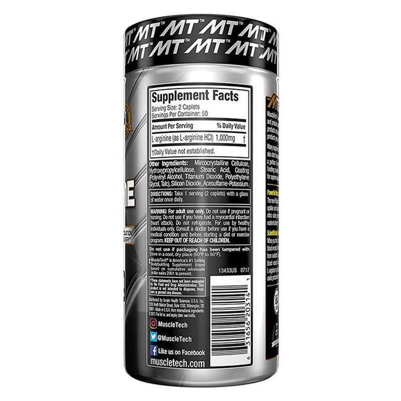 L-Arginina 100% Platinum 100 Tabletes Muscletech