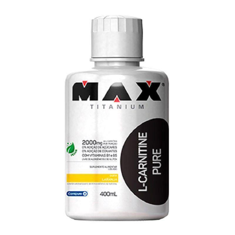 L-Carnitine Pure Pote 400ml - Max Titanium