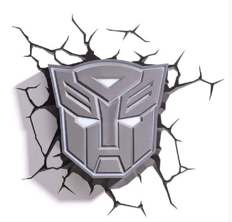 Luminária 3D Transformers Escudo Autobots - 3D Light FX