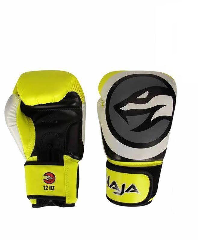 Luva Boxe Muay Thai Naja Colors Amarela Naja
