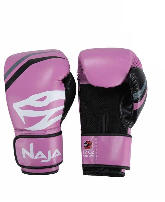 Luva Boxe Muay Thai New First Rosa Naja