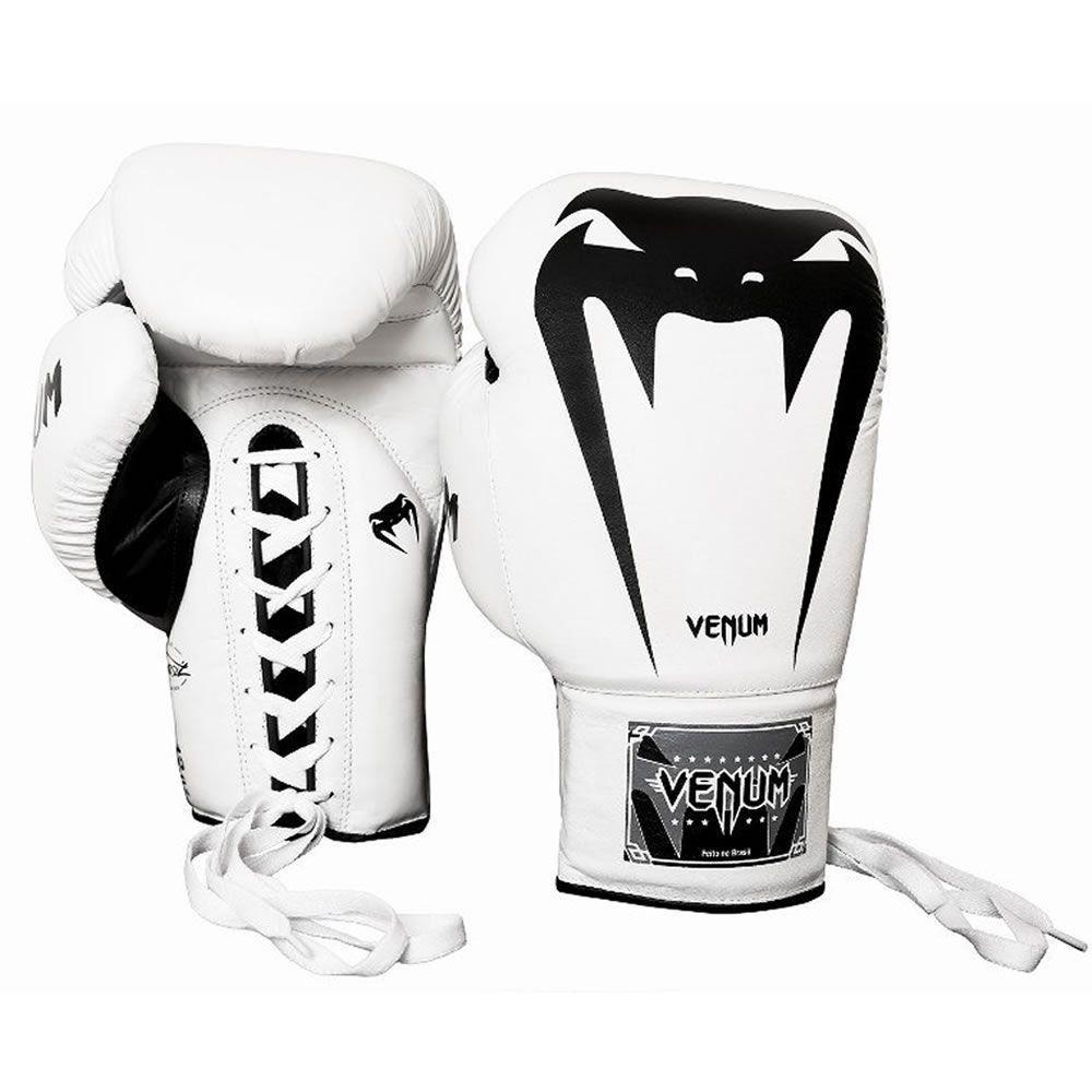Luva de Boxe Giant Brasil 3.0 Branca Couro Legítimo Venum