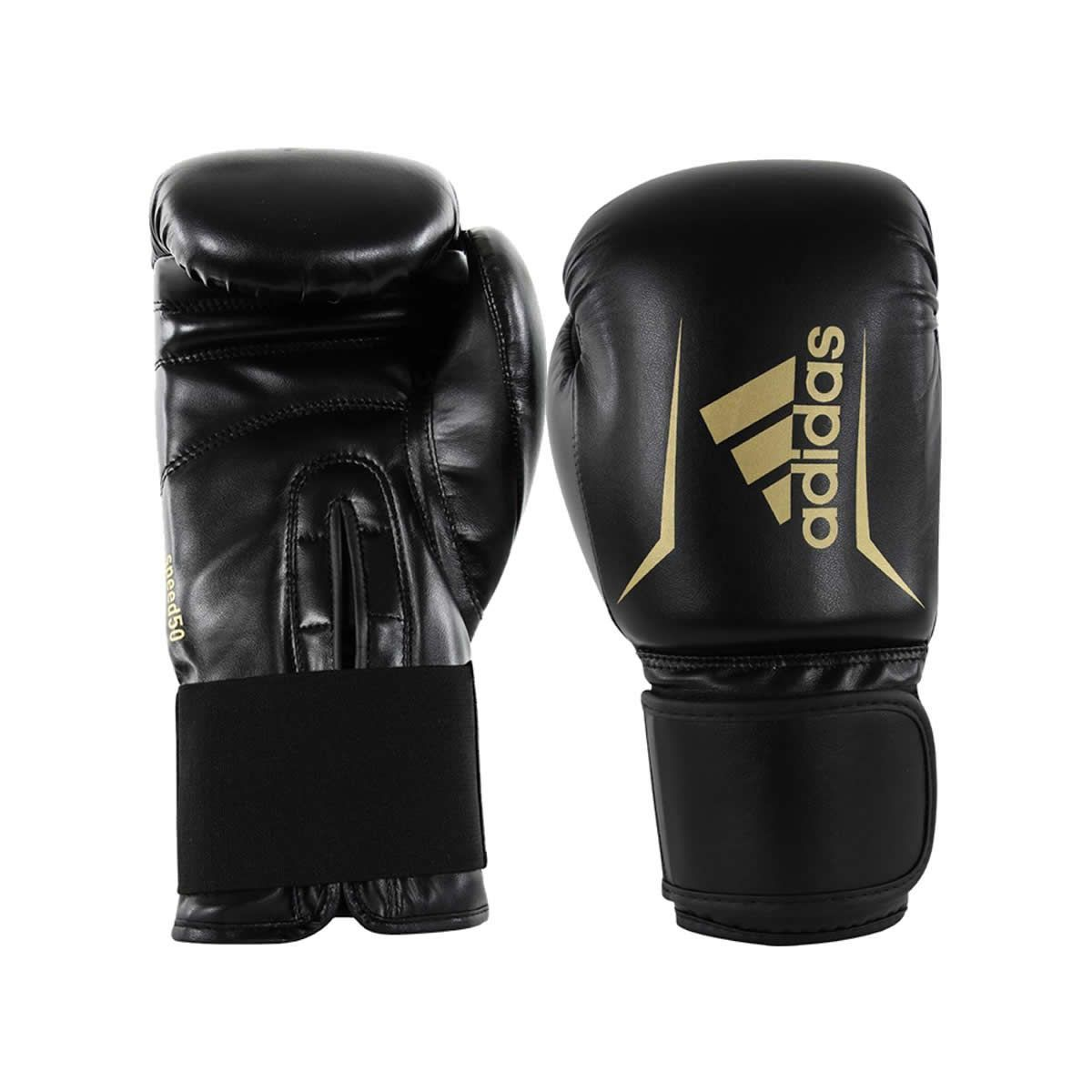 Luva de Boxe Speed 50 Preto c/ Dourado - Adidas