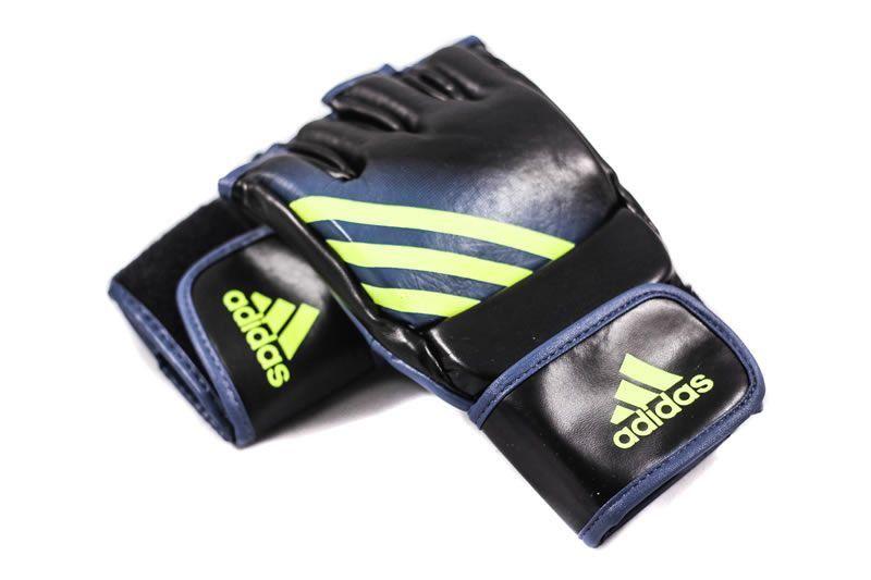 Luva de MMA Preta c/ Amarelo Solar - Adidas