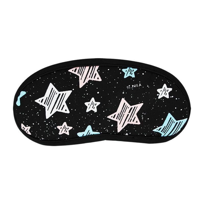 Máscara De Dormir Estampada Estrelas 100% Poliéster Yins