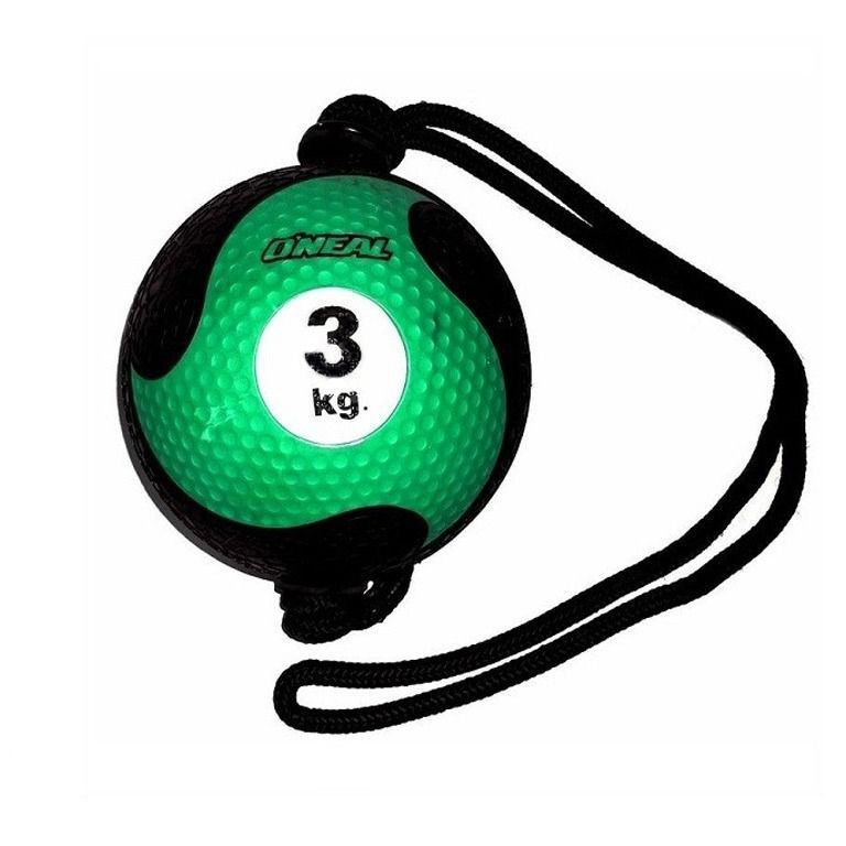 Medicine Ball Com Corda Borracha Antiderrapante 3kg Oneal