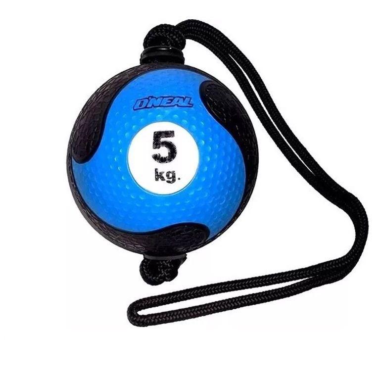 Medicine Ball Com Corda Borracha Antiderrapante 5kg Oneal