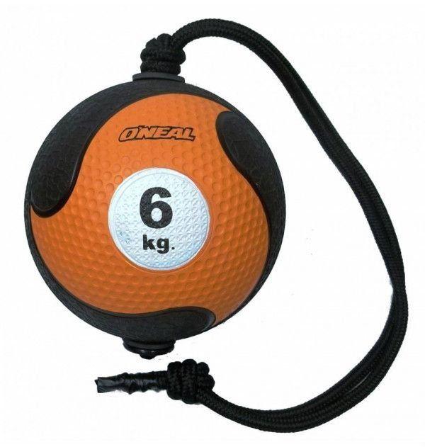 Medicine Ball Com Corda Borracha Antiderrapante 6kg Oneal