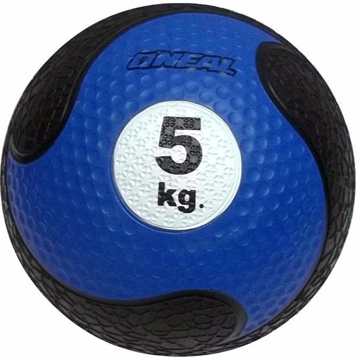 Medicine Ball Sem Alça Borracha Antiderrapante 5kg Oneal