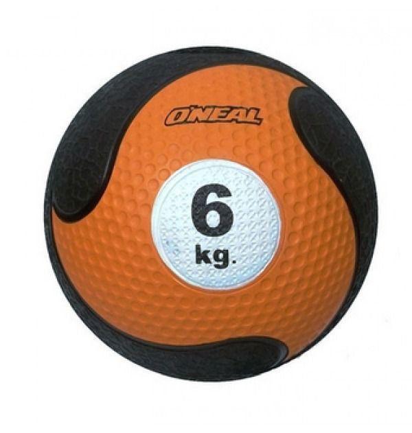 Medicine Ball Sem Alça Borracha Antiderrapante 6kg Oneal