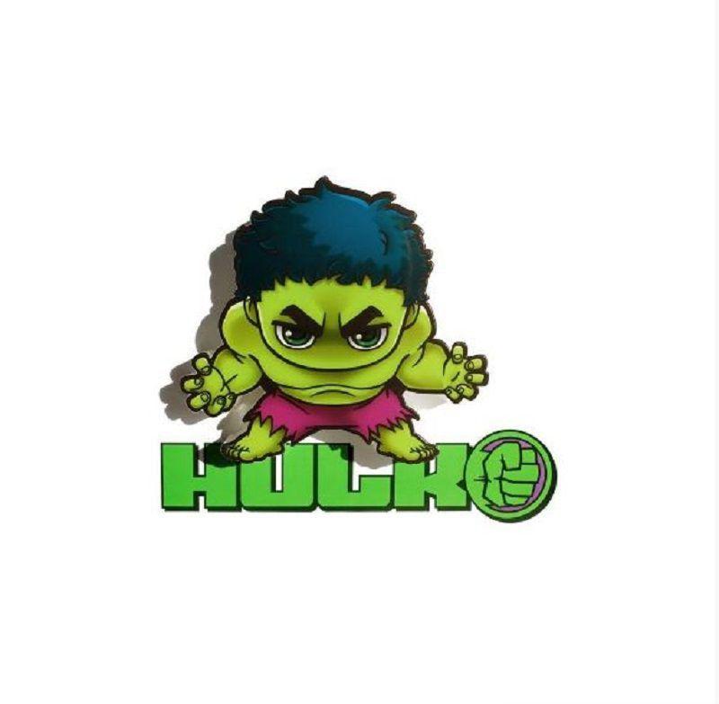Mini Luminária 3D Marvel Hulk - 3D Light FX