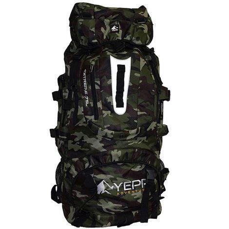 Mochila Camping Militar Camuflada 75 Litros Hiper Resistente Tecido Impermeável
