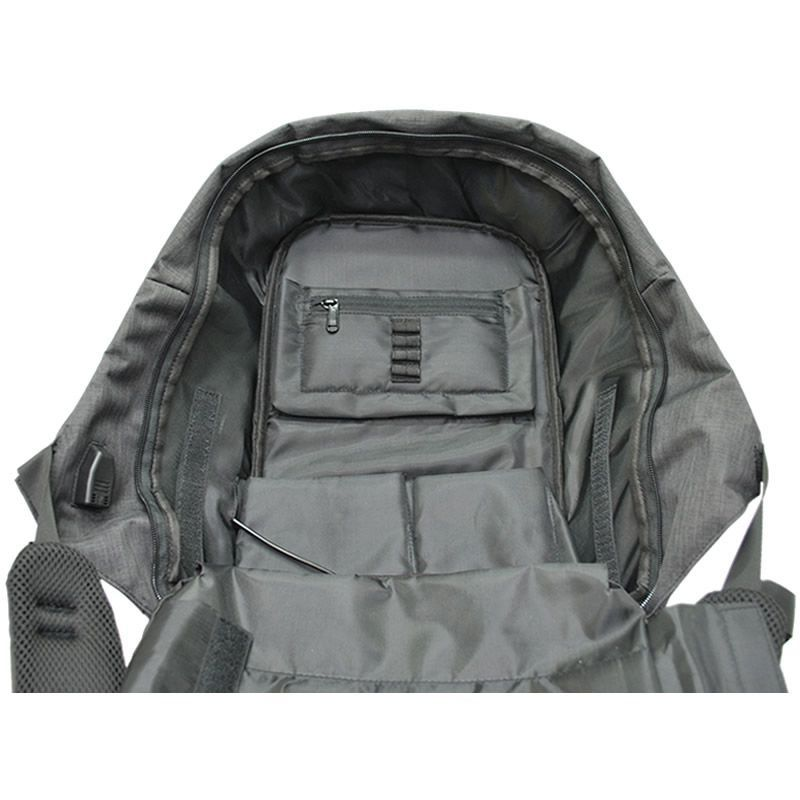 Mochila Executiva P/ Notebook Anti Furto C/ USB Cinza Convoy