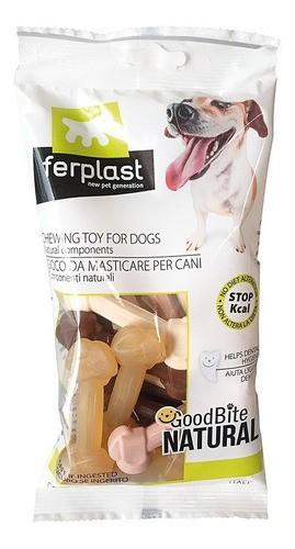 Pacote de Brinquedo Mastigável GoodBite Natural Ossinho para Cães - Sabores Mistos - PP - 16 Unidades - Ferplast