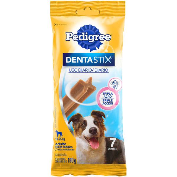 Petisco Dentastix® Cuidado Oral 180g para Cães - 7 unidades - Raças Médias - Pedigree