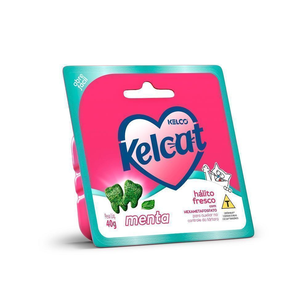 Petisco Kelcat Snack Termoformado Sabor Menta para Gatos - 40g - Kelco