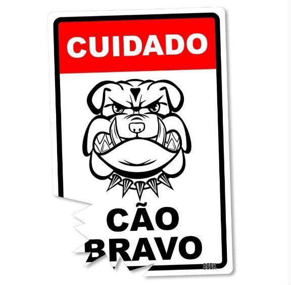 Placa Decorativa Cão Bravo - Beek