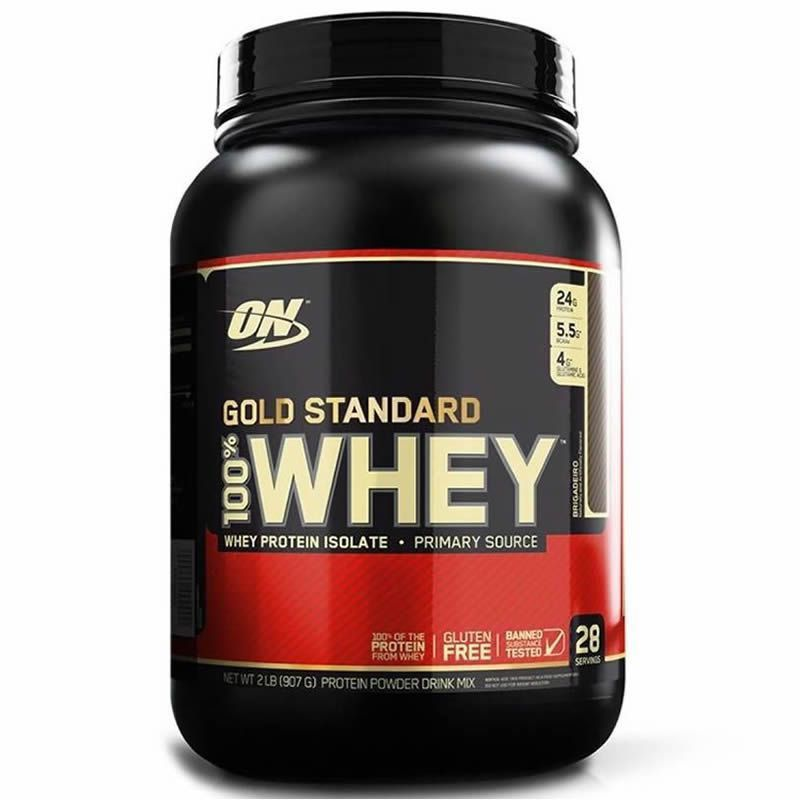 Proteína Whey Protein 100% Whey Gold Standard 2LB Optimum Nutrition