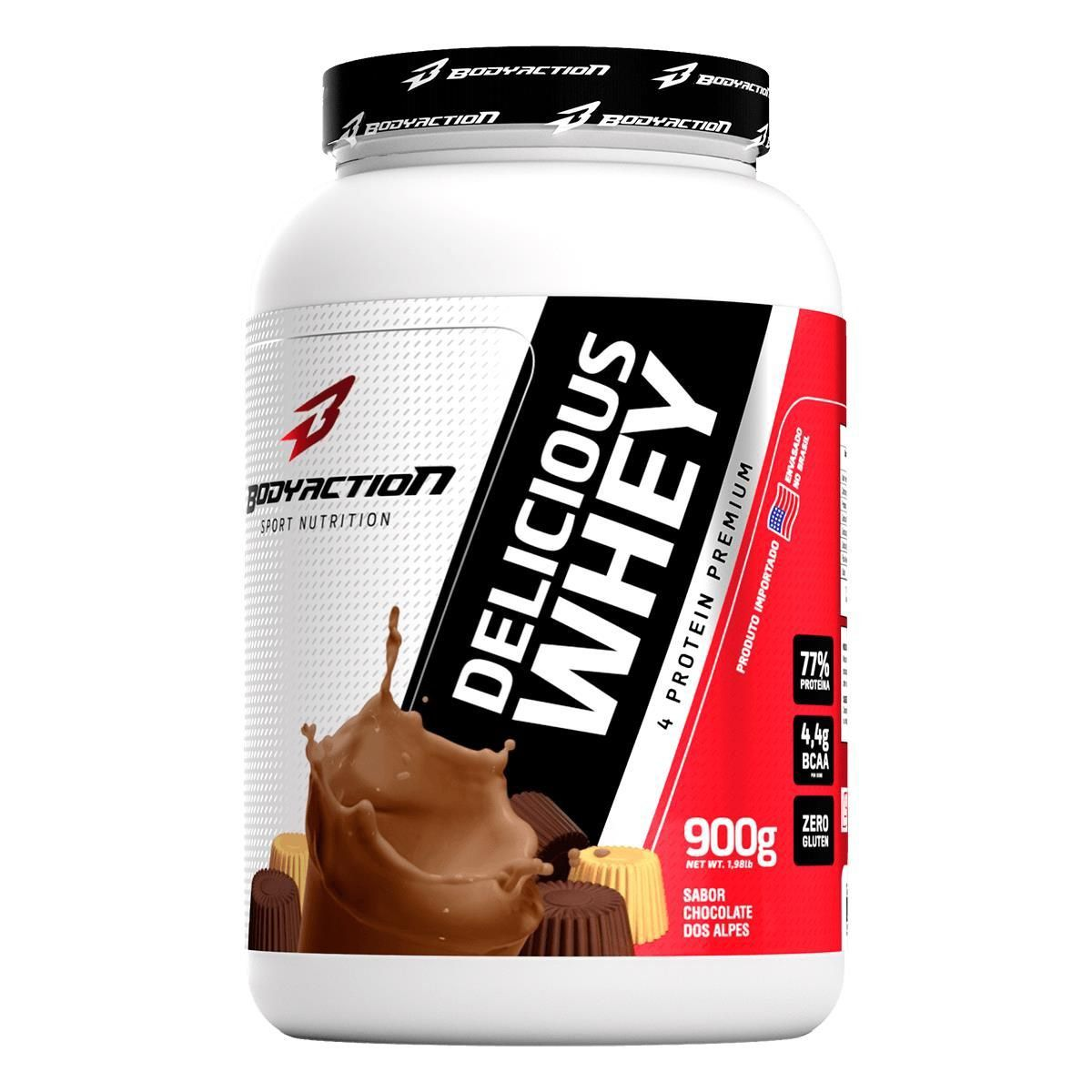 Proteina Whey Protein Delicious Whey Isolada 900g BodyAction