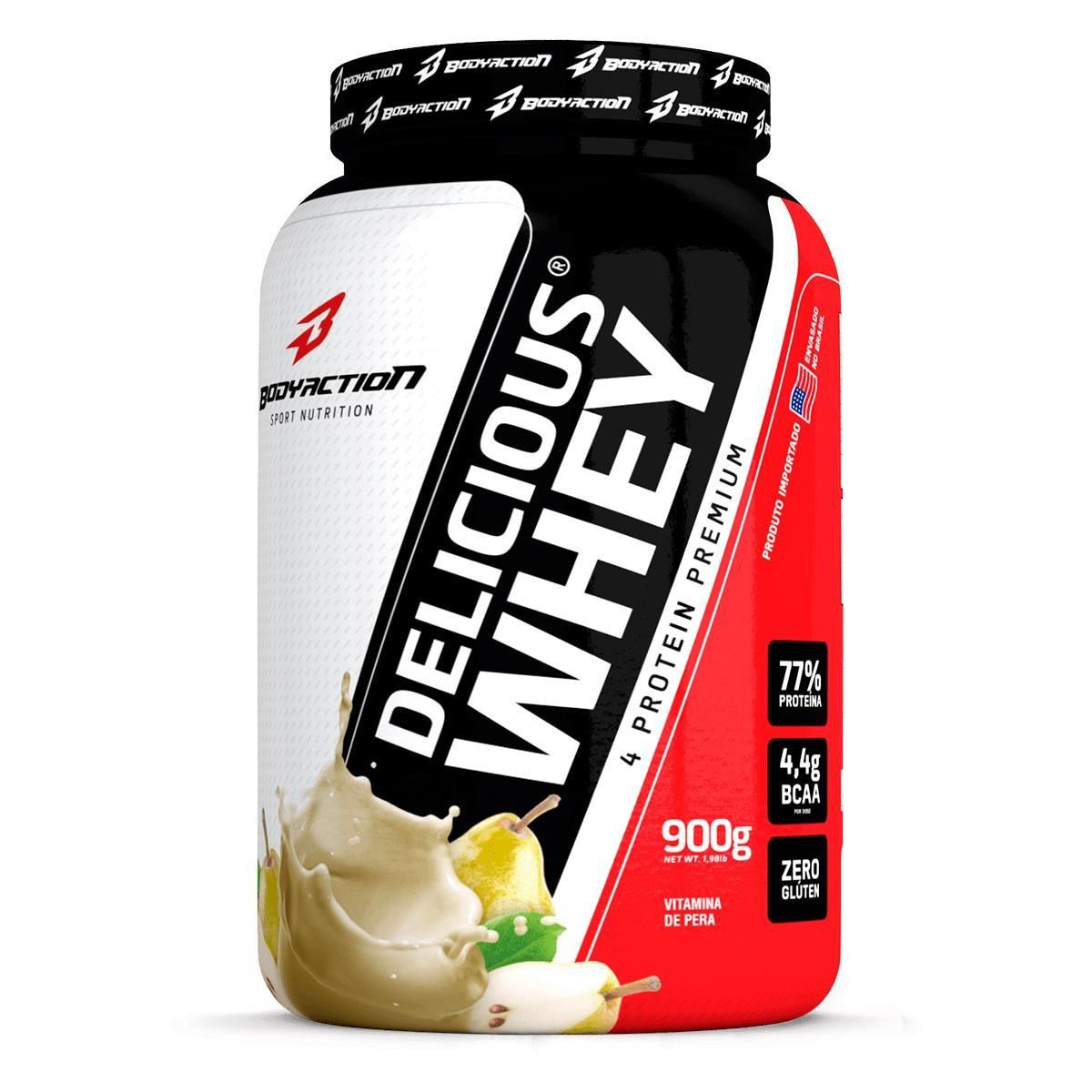 Proteina Whey Protein Delicious Whey Isolada 900g BodyAction