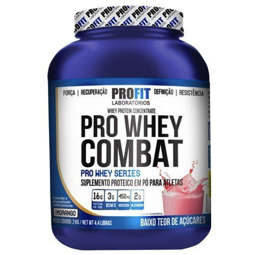 Proteína Whey Protein Pro Whey Combat 2Kg 16g de Proteína Profit