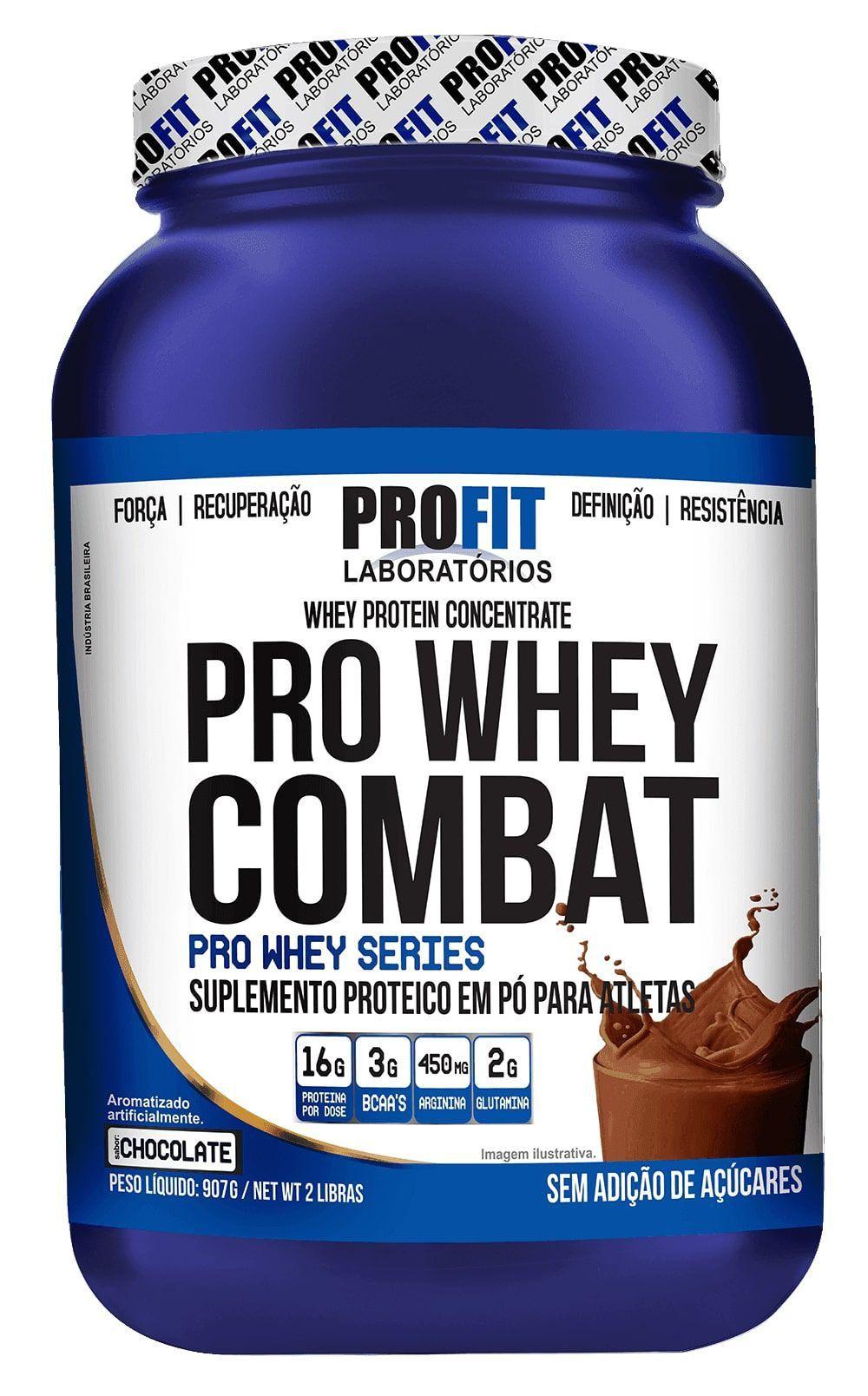 Proteína Whey Protein Pro Whey Combat 907g Profit