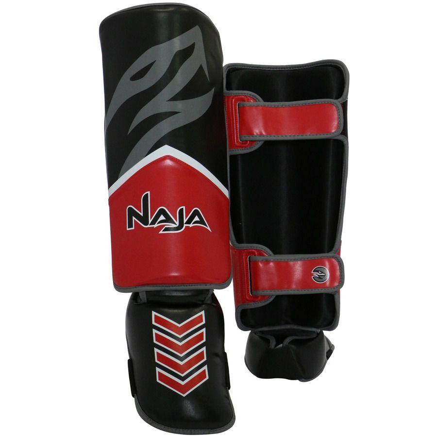 Protetor de Canela New Extreme Vermelho Caneleira TAM P Naja