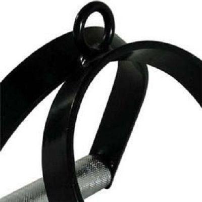 Puxador Estribo Duplo Ferro Preto 0202 Polimet