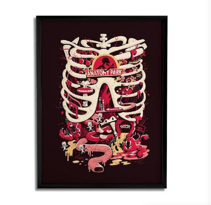 Quadro Decorativo Anatomy Park RICK And Morty Oficial - Beek