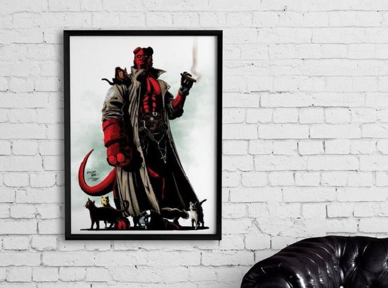 Quadro Decorativo Hellboy By Baal's