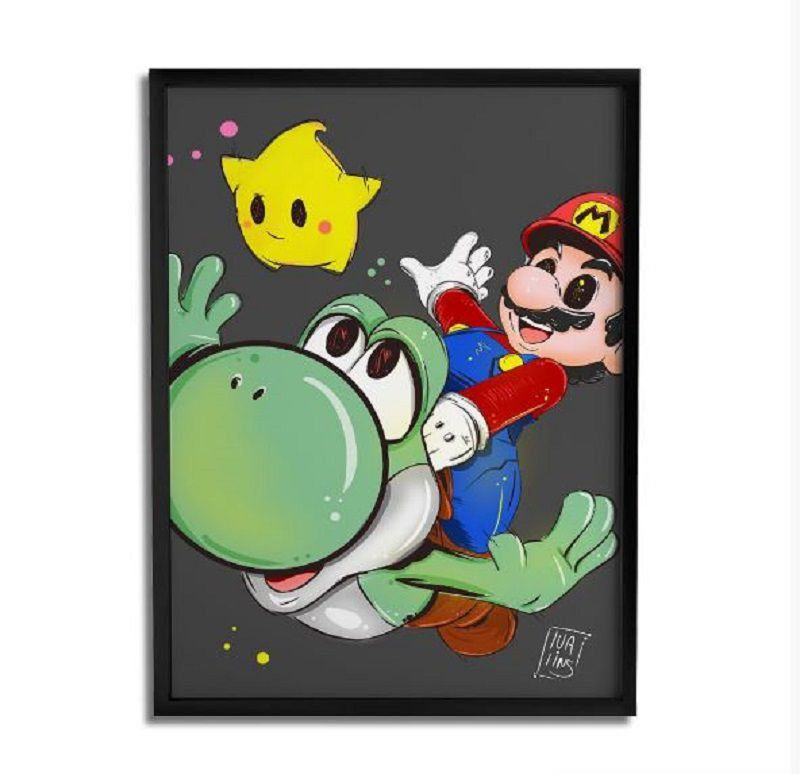 Quadro Decorativo Mario By Lua Lins