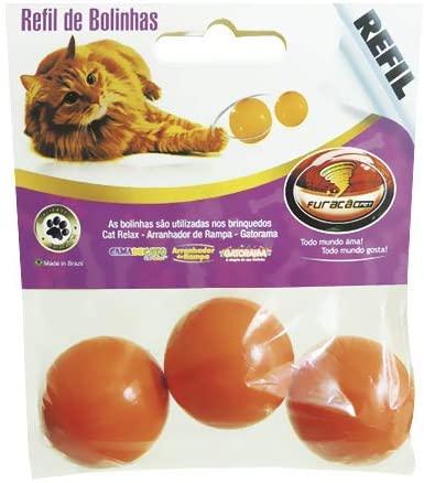Refil de Bolinhas para Brinquedo Cat Relax - 3 unidades - Furacão Pet