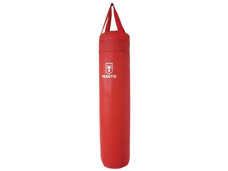 Saco de Pancada Vermelha Semi Profissional 1,20cm Com Enchimento Polimet