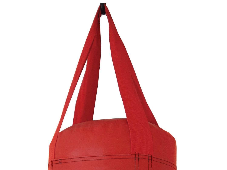 Saco de Pancadas Vermelho Com Enchimento 70cm Polimet