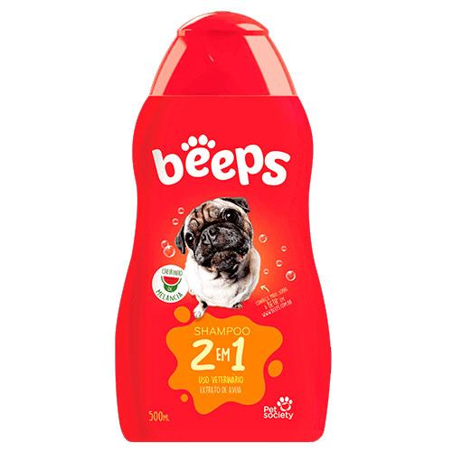 Shampoo 2 em 1 Beeps Melancia para Cães e Gatos - 500mL - Pet Society