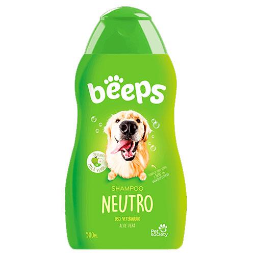 Shampoo Neutro Beeps Maçã Verde para Cães e Gatos - 500mL - Pet Society