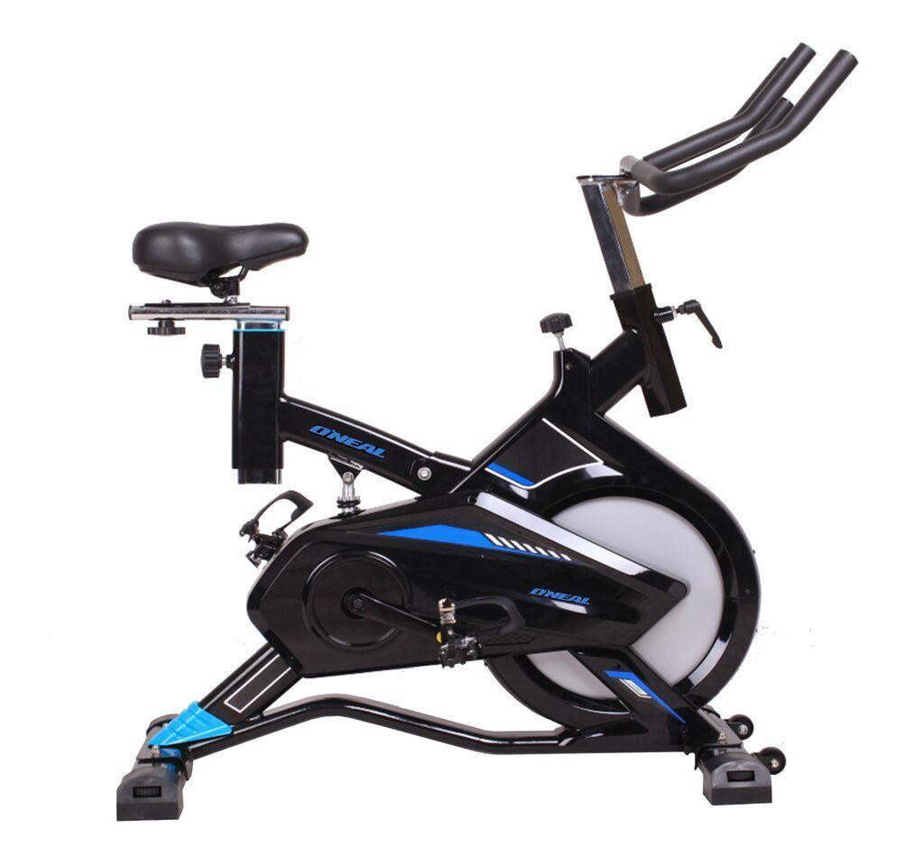 Spinning Bike Oneal TP1700 Uso Residencial Peso Flywheels 9kg - Grafite c/ Azul
